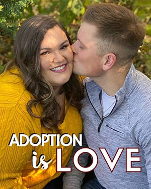 """Craig and Courtney say, """"adoption is love!"""""""